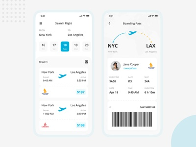 Flight Booking App clean flight booking booking app booking figma concept mobile app mobile ui holiday transportation ticket flight flat ux minimal illustration explorations ui design app