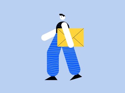 Search & Mail found search mail character art geometric art flat ilustration dailyillustration dailyui uiux artists flat illustration clean minimal explorations ux design app ui