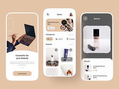 Cosmetic Shop woman beauty ecommerce e commerce skincare cosmetic minimal explorations ux clean design app ui