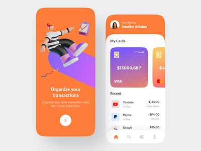Dowet - Wallet Transactions App dompet e-wallet paypal dana gopay ovo mobile finance wallet minimal explorations ux clean design app ui