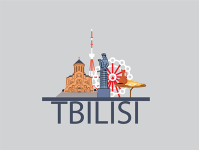tbilisi, Georgia illustration graphicdesign city georgia post design poster tbilisi