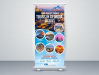tour agency stand banner logo vector branding poster design graphic design graphicdesign stand banner tour stand tour banner tourism tour