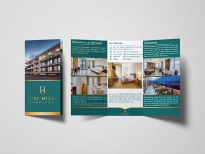 Hotel flyer flyes brochure triplate hotel