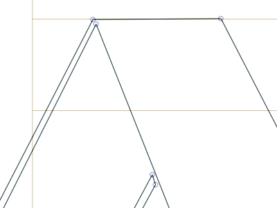 Folded A font glyphs