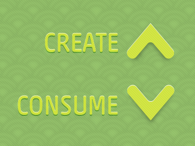 """Create More, Consume Less"" Desktop Background desktop background"