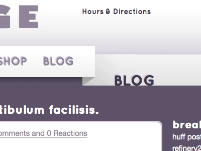 Beaucoup Blog website blog navigation 3d