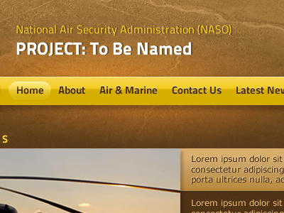 Home Page yellow brown web design