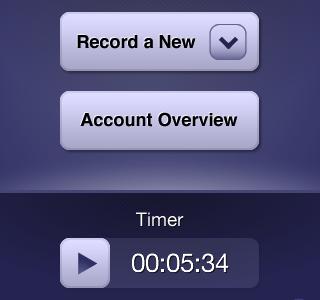 Quick Cashboard iPhone App - Home iphone ui cashboard