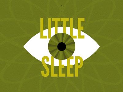 Little Sleep illustration green retro