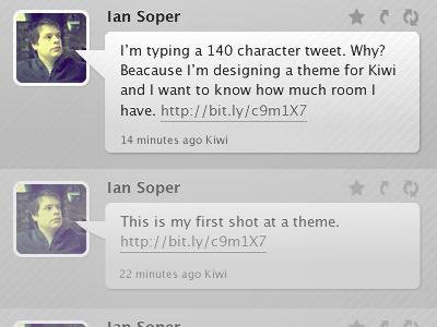 Twitter/Kiwi Theme kiwi theme twitter ui