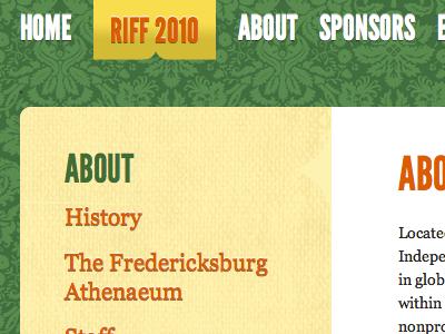 Rappahannock Independent Film Festival Web Site film festival website texture green web design