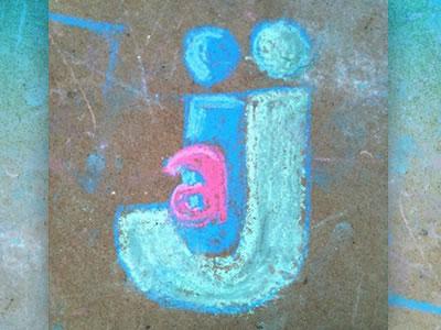Our family logo rendered in sidewalk chalk. logo chalk photo fun