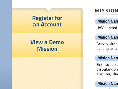 Main Action: Register buttons