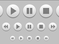 Media Buttons - Scalable, pure CSS, no images buttons css monochromatic