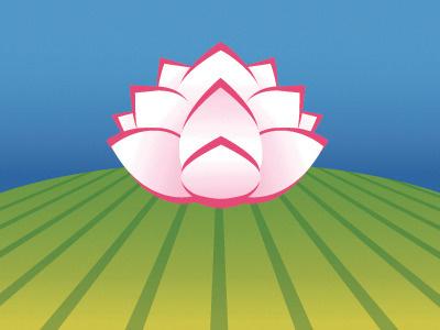 Manse Field Logo field lotus flower logo branding