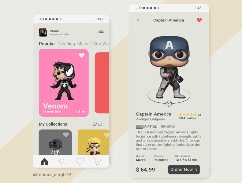 Toy Shop app color palette branding ui design marvelous designer toyshop illustrations illustration ui movieticket mobile ui