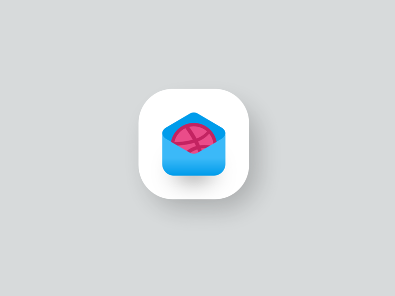 Dribbble | Invite Icon debut app uiux mobile ui xd dribbble inspiration giveaway illustrator ios invitation invite website simple modern illustration icon design 3d