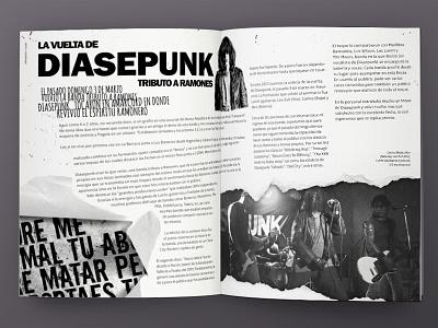 FTR Fanzine editorial design fanzine uruguay punk grunge melian