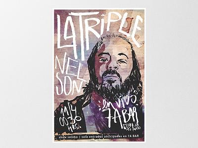 LTN | Gig Poster gig poster uruguay rock