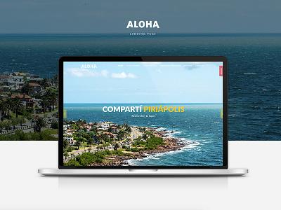Aloha | Landing Page uruguay aloha html5 ui ux bootstrap landing page web design