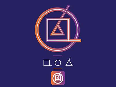 APO nepali app icon modern abstract gradient logo illustration nepal app icon vector illustrator