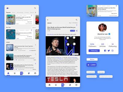 Online Publishing App app ux ui design icon nepal design ui