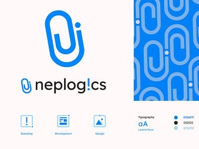 Neplogics ui design typography nepal logo design development branding
