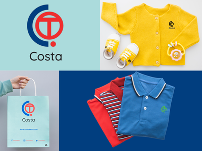 COSTA Wears illustration logo branding