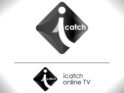 icatch online tv lettering channel nepal illustrator logo