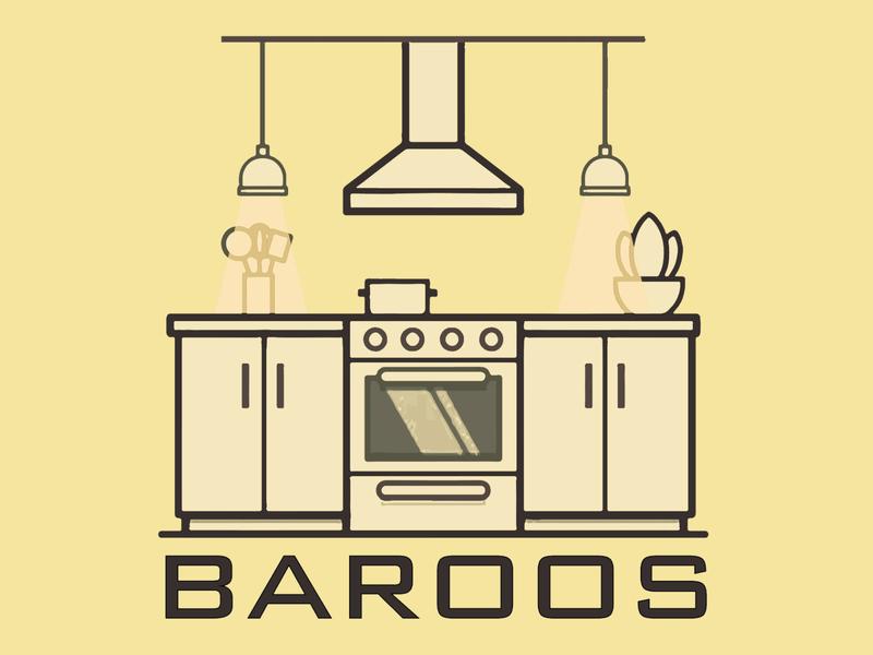 barooos kitchen design icon logo