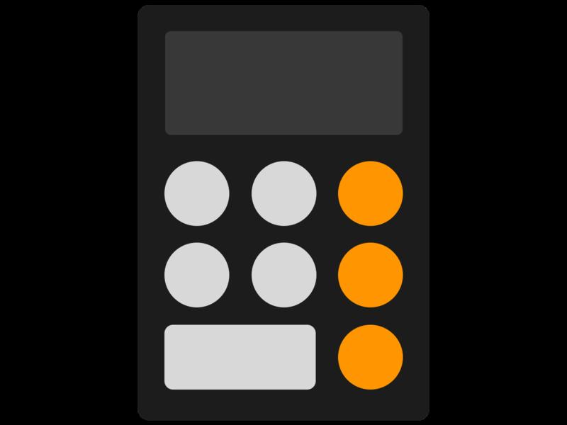 iOS Calculator Logo App ios logo ios app ios calculator logo design logodesign logo design app