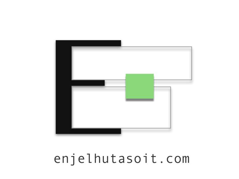 Logo of enjelhutasoit.com design app web logo design logodesign logo branding