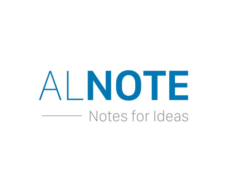 Alnote ui illustration web logotype branding logo design logodesign logo design app