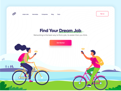 Find Job Landing Page product design print mobile illustraion typography creative illustrator minimal app design illustration find a job in dubai ux ui app landing job search job search website web design