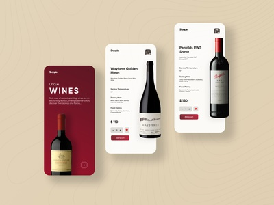 E-Commerce App Design app design uiuxdesign minimalistic minimalist modern ui design e commerce wine app design wine bottle uidesign minimal elegant e commerce app ecommerce