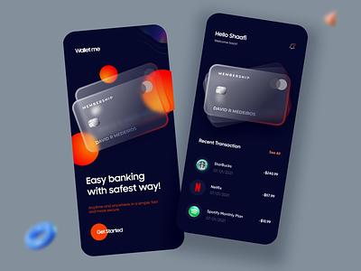 Banking / Card / Finance App illustration design minimal ux ui typography product design mobile apps mobile app minimal app android ios card banking bank finance mobile app design mobile app design app