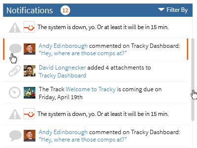 Tracky Notifications part 2