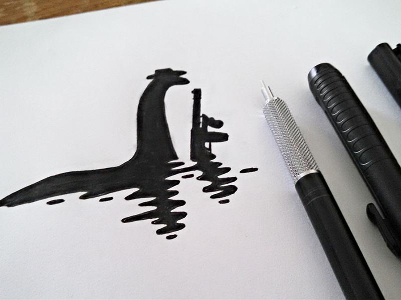 Eliot Loch Ness tommy gun loch ness