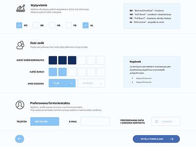 UI Form (WIP) light ui form web button input select data flat design blue modern