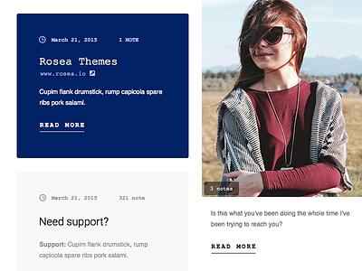 Posts - Tumblr Theme ( W I P ) ux ui clean simple format post tumblr theme design web