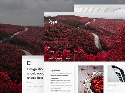 D.S.G.N - Tumblr Theme - Grid Based