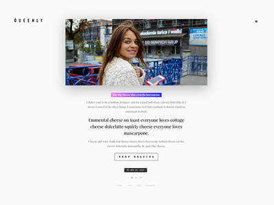 Queenly - One Column & Grid Based Tumblr Theme