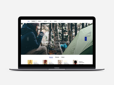 Shopify Theme (WIP) ui nav simple white blue clean slider minimal shopify theme commerce theme shopify