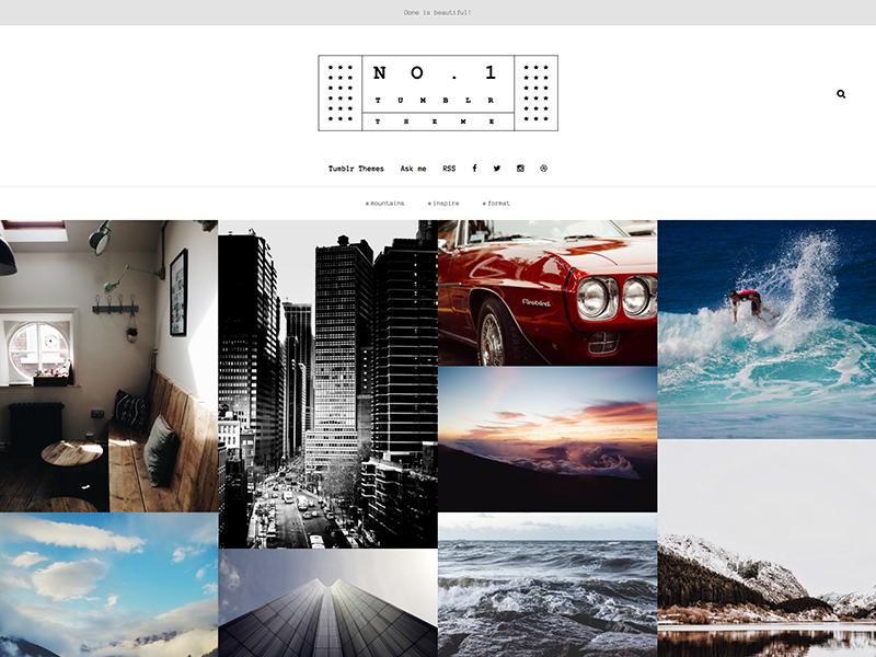 tumblr photography themes marcin czaja projects premium tumblr themes dribbble