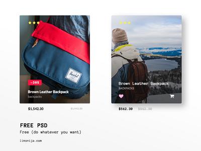 Free PSD -  eCommerce UI