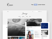 Free Premium Tumblr Theme by Rosea.io