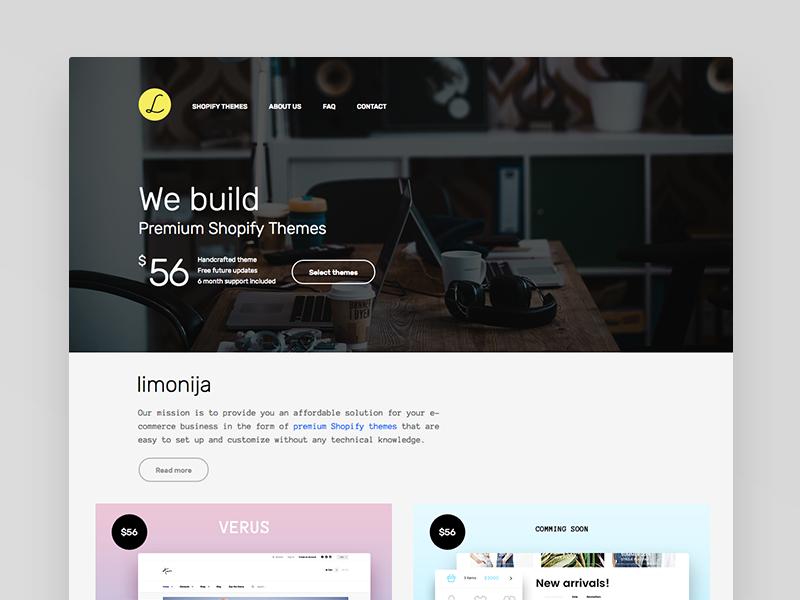 Limonija premium shopify themes