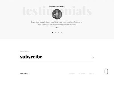 Testimonials - Muse template (WIP) footer ux ui design web minimal testimonials creative template adobe muse muse