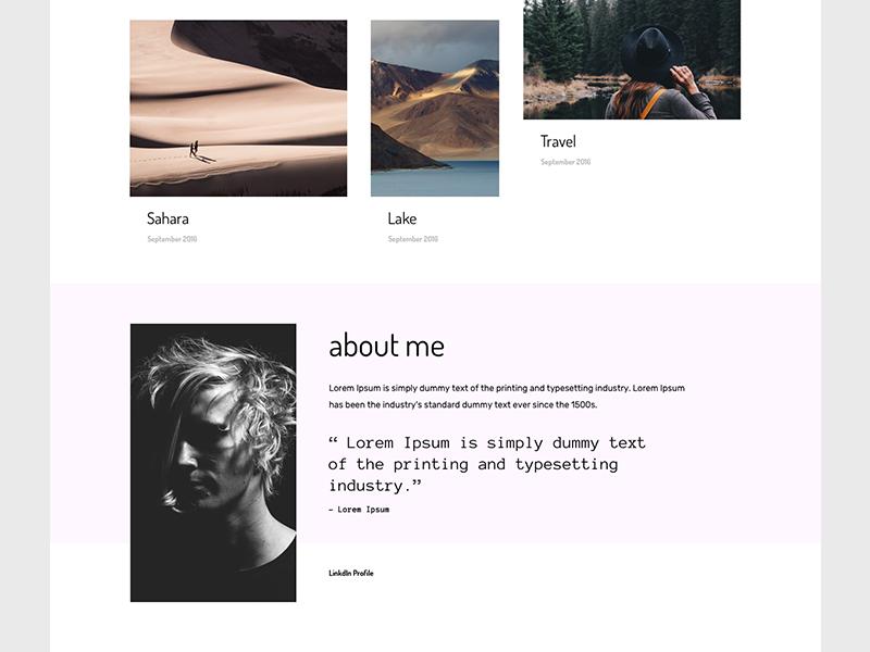 Adobe muse portfolio templates by marcin czaja dribbble adobe muse portfolio template maxwellsz