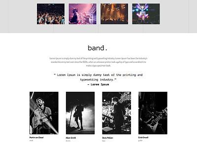 Responsive Landing Page Templates for Adobe Muse CC muse adobe ux ui design web events wedding portfolio band landing page